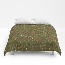 Peacock Ornament Comforters