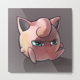 The Puff Metal Print