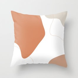 Terracotta Stain Throw Pillow