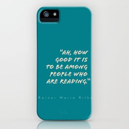 To Be Among Readers iPhone Case