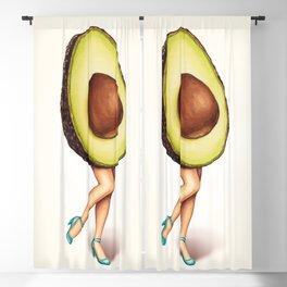 Avocado Girl Blackout Curtain