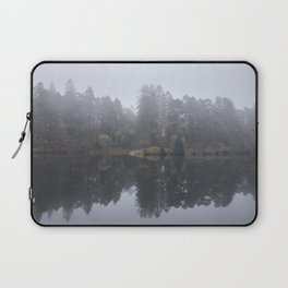 Fog and reflections. Tarn Hows, Cumbria, UK. Laptop Sleeve