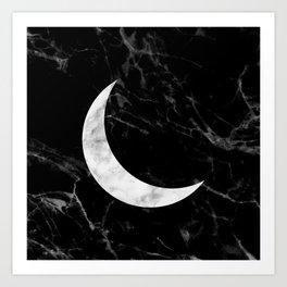 Marble Moon Art Print