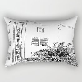 Miami Beach Hotel Rectangular Pillow