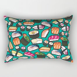 Sushi Aqua Rectangular Pillow