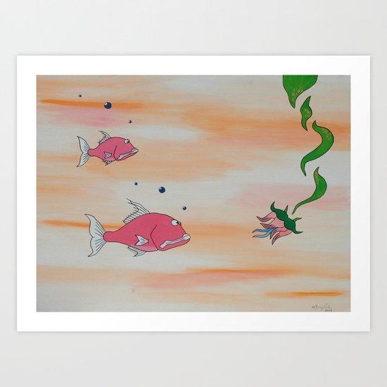 """Big Pink"" Art Print"