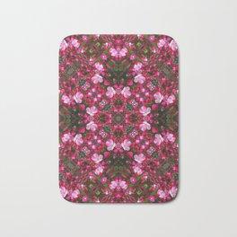 Spring blossoms kaleidoscope - Strawberry Parfait Crabapple Bath Mat