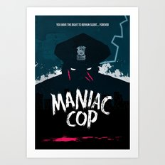 Maniac Cop Art Print