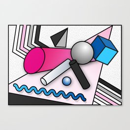Trippy Shapes 2 Canvas Print