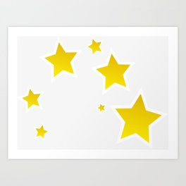 beautiful stars Art Print