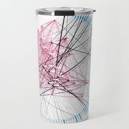 »Where« – Data visualization of a social network Travel Mug