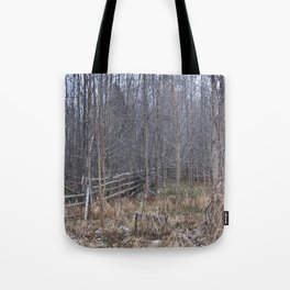 Fenced-in and Neglected Tote Bag