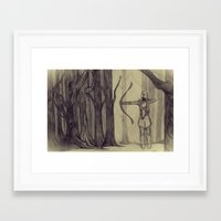lotr Framed Art Prints featuring Legolas LOTR - the noisy silence of woods by Blanca MonQnill Sole