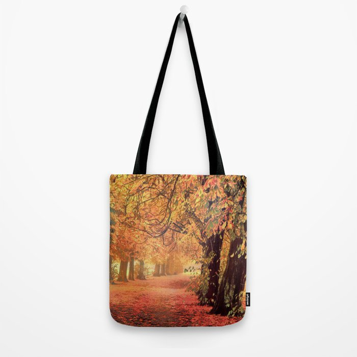 Autumn - the leaves are falling Tote Bag