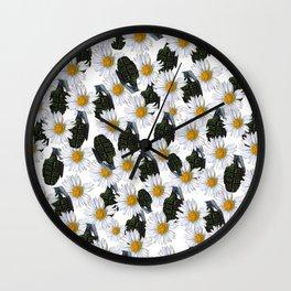 War and peace Wall Clock