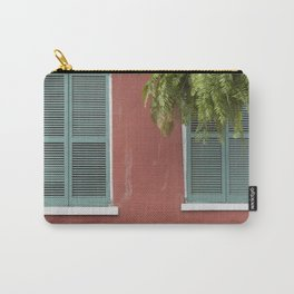 New Orleans Teal Shutters Carry-All Pouch
