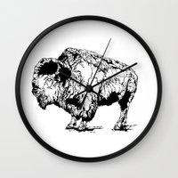 buffalo Wall Clocks featuring Buffalo by Finch