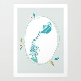tea drop Art Print