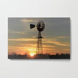 Kansas Country Sunset Metal Print