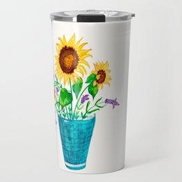 Sunflowers Summer Dream Travel Mug