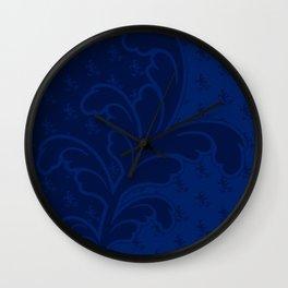 Ferny - Blue Wall Clock