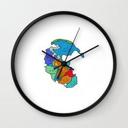 Reunite Pangea Funny Geology for Geologist T-Shirt Wall Clock