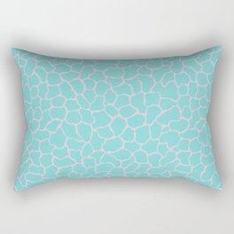 Reflection Pools in Aqua Sea/Pink Conch Rectangular Pillow
