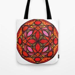 Red mandala of love Tote Bag