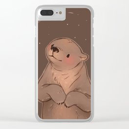 Starry Bear~ Clear iPhone Case