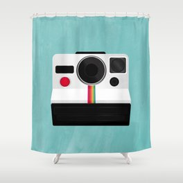 Polaroid Land Camera Shower Curtain