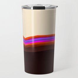 Orange, Purple, and Cream Abstract Travel Mug