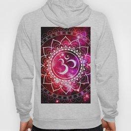 Ohm Mandala : Galaxy Mandala Red Fuchsia Pink Hoody