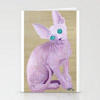 sphynx Stationery Cards featuring sphynx by terastar