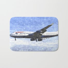 British Airways Boeing 747 Art Bath Mat