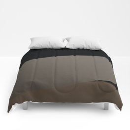 Simple black and grey forms Comforters