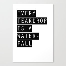 Coldplay Teardrop Canvas Print