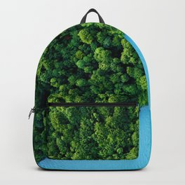 Aerial Photography of Forest and Blue Lake Backpack