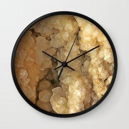 Milk Quartz Geode Wall Clock
