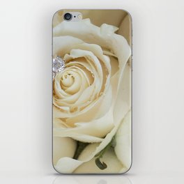 White Roses and White Diamonds iPhone Skin