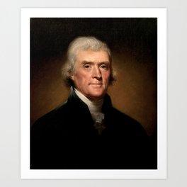 President Thomas Jefferson Art Print