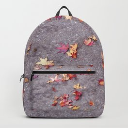 Autumn leaves, colours, gutters in Vancouver, BC Backpack