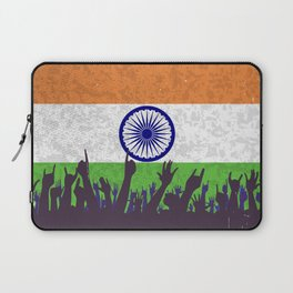 India Flag with Audience Laptop Sleeve