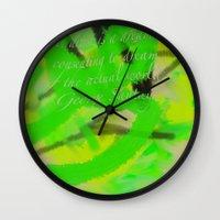 artsy Wall Clocks featuring Artsy by DesignByAmiee