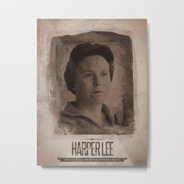 Harper Lee Metal Print