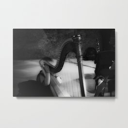 The harp waiting to be played Metal Print