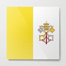 Vatican City Holy See flag emblem Metal Print