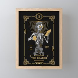 The Reader X Tarot Card Framed Mini Art Print
