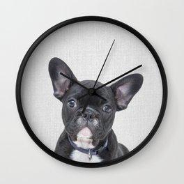 Bulldog Puppy - Colorful Wall Clock