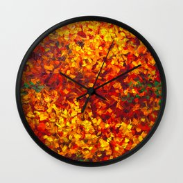 Autumnal Abstraction Wall Clock