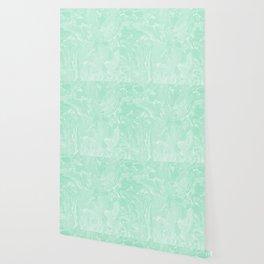 Mint Green Pastel Marble Minimalist Wallpaper